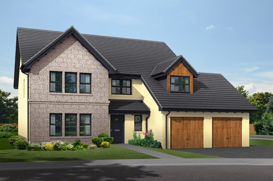 Double Detached Garages : Plot ajc scotland house builder and building